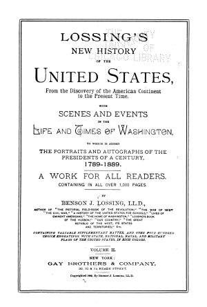 Lossing s New History of the United States