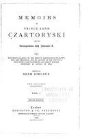 Memoirs of Prince Adam Czartoryski and His Correspondnece with Alexander I  PDF