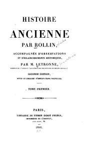 Histoire ancienne: Volume1