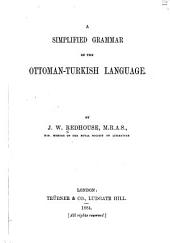 A Simplified Grammar of the Ottoman-Turkish Language