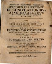 Diss. philol. specimen perfectionis in coniugationibus apud Ebraeos non multiplicandis obvium sistens