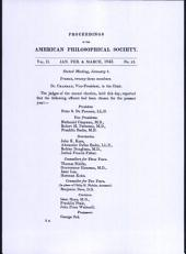 Proceedings, American Philosophical Society (vol. 2, no. 25)