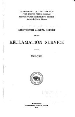 Annual Report of the Reclamation Service PDF