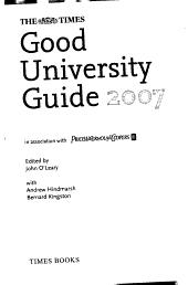 The Times Good University Guide 2007 PDF