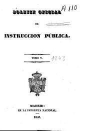 Boletín oficial de instrucción pública: Volumen 5