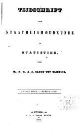 Tijdschrift voor staathuishoudkunde en statistiek: Volume 1