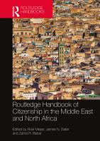 Routledge Handbook of Citizenship in the Middle East and North Africa PDF
