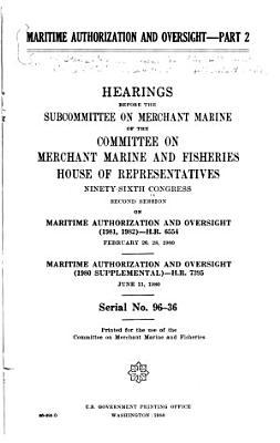 Maritime Authorization and Oversight  1980 PDF
