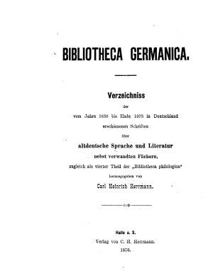 Bibliotheca germanica PDF