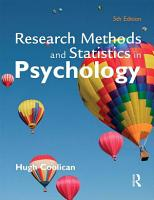 Research Methods and Statistics in Psychology  Fifth Edition PDF