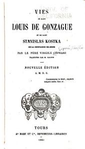 Vies de Saint Louis de Gonzague et de Saint Stanislas Kostka de la Compagnie de Jésus
