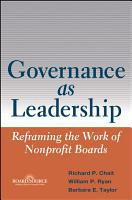 Governance as Leadership PDF