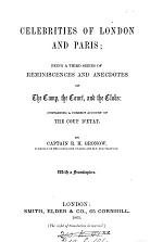 Celebrities of London and Paris; a third series of reminiscences
