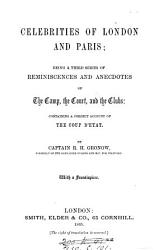 Celebrities of London and Paris  a third series of reminiscences PDF