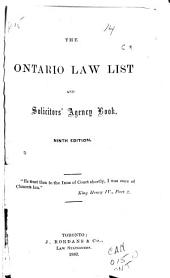 The Ontario Law List and Solicitor's Agency Book