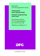 Gentechnik und Lebensmittel  Genetic Engineering and Food PDF