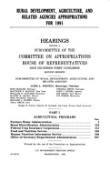 Rural Development  Agriculture  and Related Agencies Appropriations for 1991 PDF