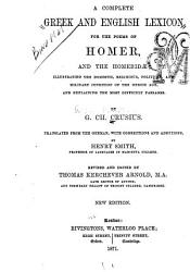 A Complete Greek and English Lexicon for the Poems of Homer and the Homeridae PDF