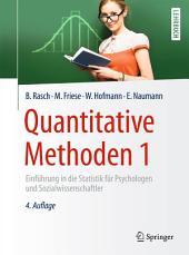 Quantitative Methoden 1: Einführung in die Statistik für Psychologen und Sozialwissenschaftler, Ausgabe 4