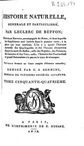 Histoire naturelle generale et particuliere: Volume54