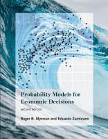 Probability Models for Economic Decisions  second edition PDF