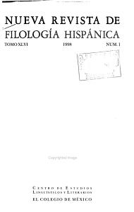 Nueva revista de filolog  a hisp  nica PDF