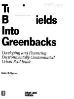 Turning Brownfields Into Greenbacks