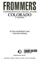 Frommer's Comprehensive Travel Guide Colorado