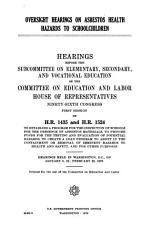 Oversight Hearings on Asbestos Health Hazards to Schoolchildren PDF