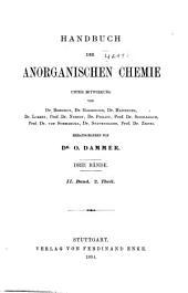 Handbuch der anorganischen chemie: Band 2,Ausgabe 2
