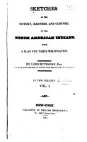 Sketches of the History  Manners  and Customs of the North American Indians PDF