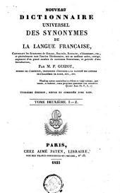 Nouveau dictionnaire universel des synonym de la langue française ...