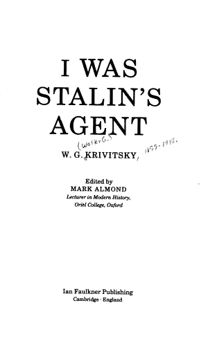 I was Stalin's Agent
