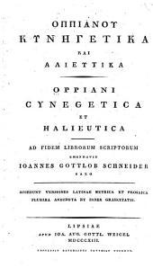 Oppiani Cynegetica et Halieutica