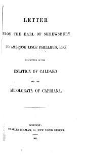 Letter ... to A. L. Phillipps Esq. Descriptive of the Estatica of Caldaro (M. Mörl) and the Addolorata of Capriana (D. Lazzari).