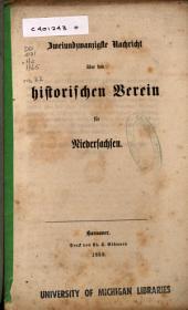 Nachricht über den Historischen Verein für Niedersachsen: Ausgabe 22
