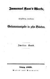 Immanuel Kant's Werke: Kritik der reinen Vernunft