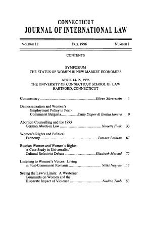 Connecticut journal of international law PDF