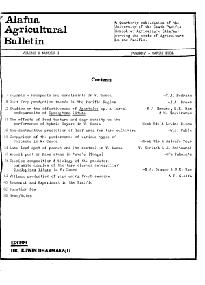 Alafua Agricultural Bulletin PDF