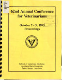 62nd Annual Conference for Veterinarians