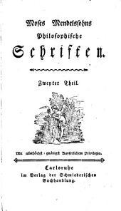Philosophische Schriften: 2