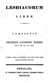 Lesbiacorum liber: accessit tabula geographica