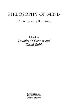 Philosophy of Mind  Contemporary Readings PDF