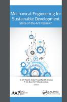 Mechanical Engineering for Sustainable Development  State of the Art Research PDF