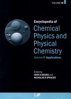 Encyclopedia of Chemical Physics and Physical Chemistry  Applications PDF