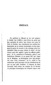 Manuel d'économie politique: Volume1