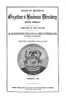 State Of Michigan Gazetteer Business Directory For 1856 7