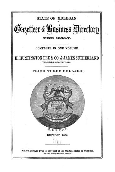 State of Michigan Gazetteer   Business Directory for 1856 7 PDF