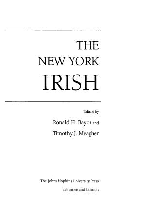 The New York Irish PDF