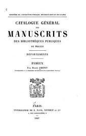 Catalogue général des manuscrits des bibliothèques publiques de France Départements Évreux
